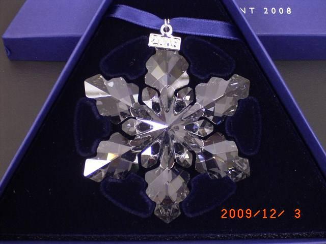スワロフスキー クリスマス オーナメント 2008年 雪の結晶の画像