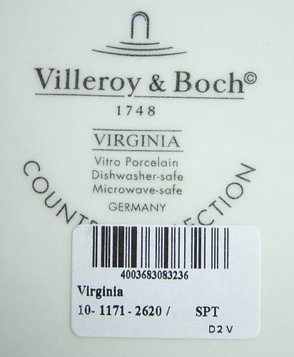 ヴィレロイ&ボッホ バージニア プレート 27 cm