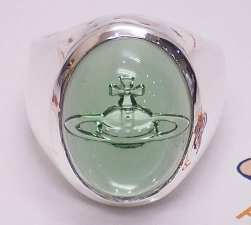 ヴィヴィアンウエストウッド カボション オーブリング グリーングラス