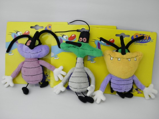 オギー&コックローチ 3匹のゴキブリのぬいぐるみ