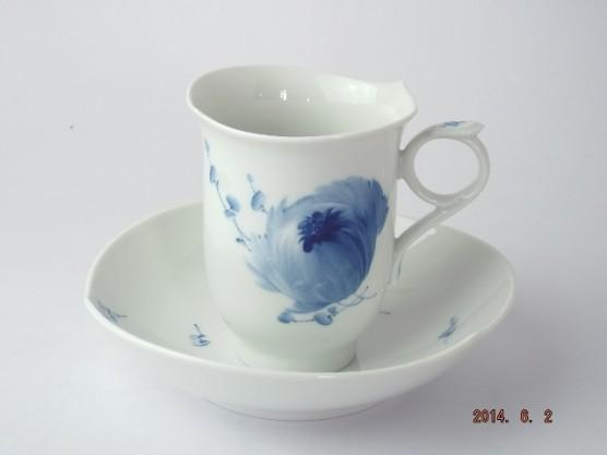 マイセン 青い花 コーヒーカップ&ソーサー