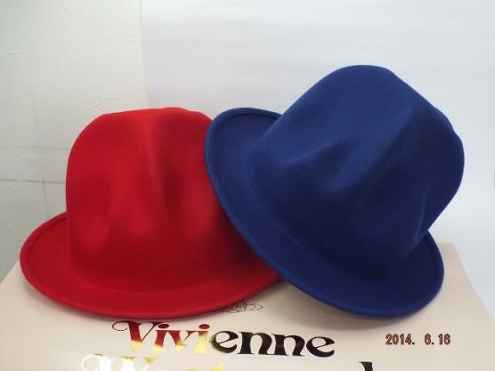 ヴィヴィアンウエストウッド ワールズエンド フェルトマウンテンハット 赤と青