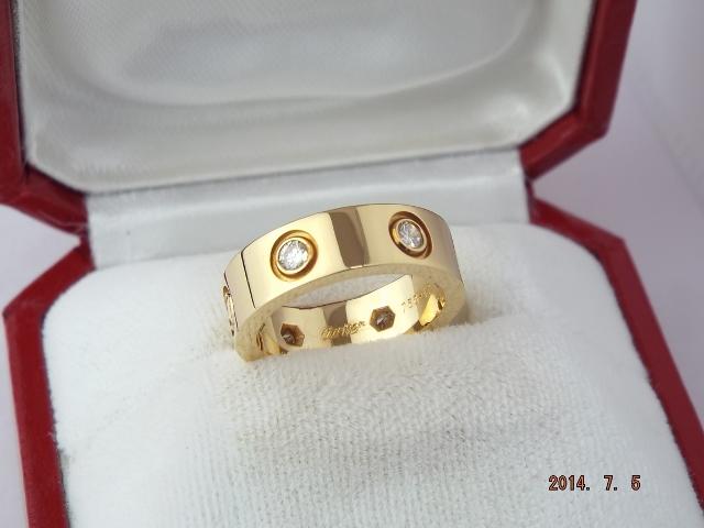 カルティエ ラブリング 18金 イエローゴールド フルダイヤ