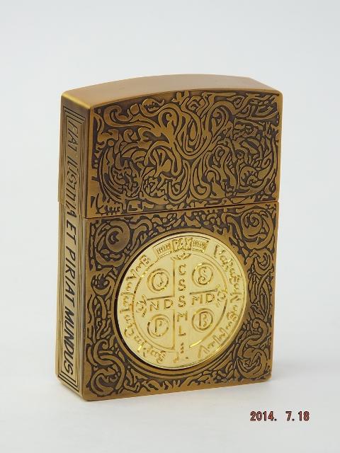 コンスタンティン Zippo ライター ムービーサイズ ゴールドクロスコイン