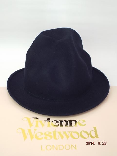 ヴィヴィアンウエストウッド ワールズエンド フェルトマウンテンハット 濃紺