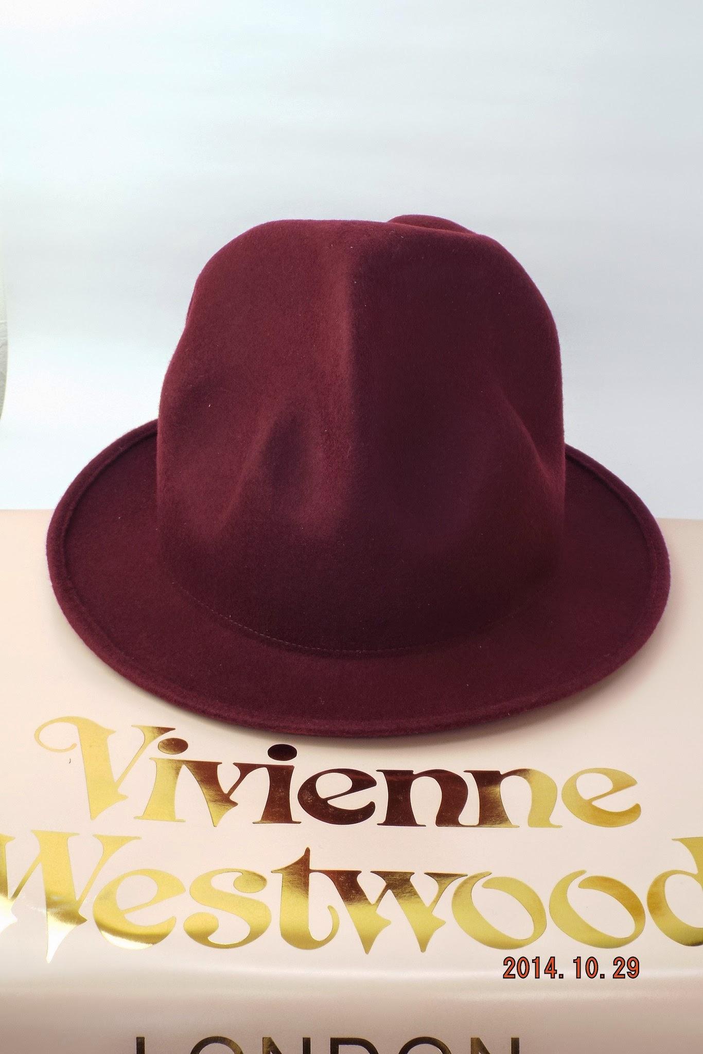 ヴィヴィアンウエストウッド ワールズエンド フェルトマウンテンハット ワイン