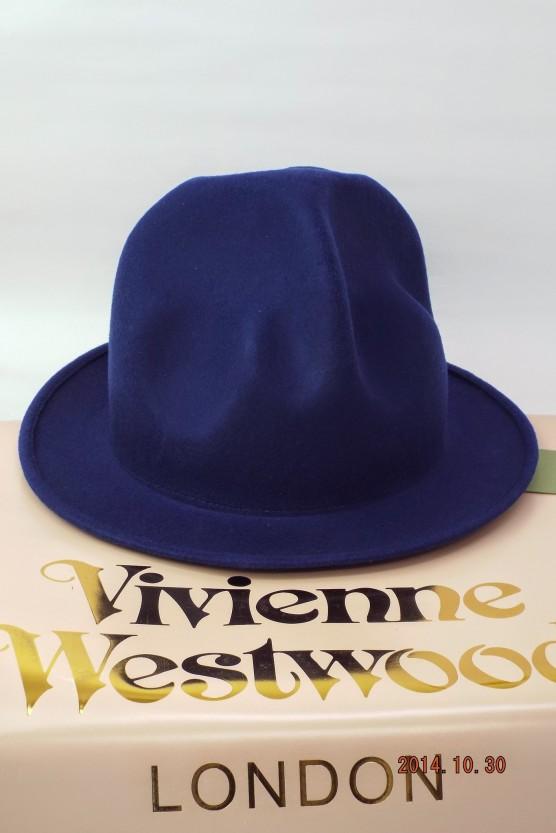 ヴィヴィアンウエストウッド ワールズエンド フェルトマウンテンハット ロイヤルブルー