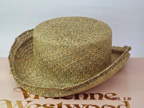 ヴィヴィアンウエストウッド ワールズエンド ジョンブルハット ストロー(麦藁帽子)
