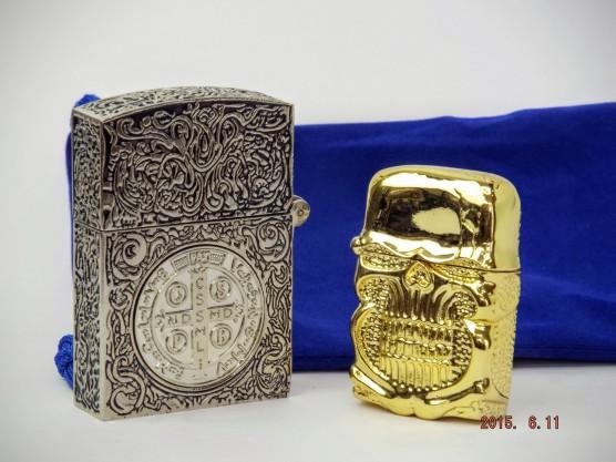 コンスタンティン Zippo ムービーサイズ 6面彫り 銀色