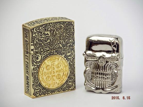 ムービーサイズ コンスタンティン Zippo ライター 6面彫り #201