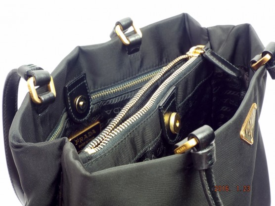 プラダ (PRADA) トートバッグ B11214 黒 ナイロン×レザー