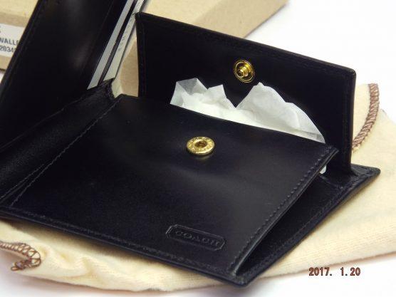 コーチ メンズ財布 5599 ポリッシュド コイン ウァレット 黒
