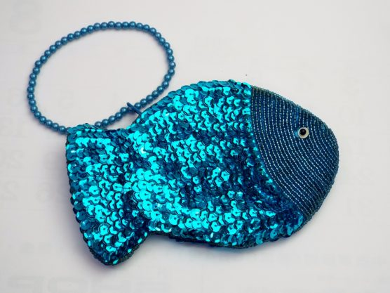 Sequined Fish Purse