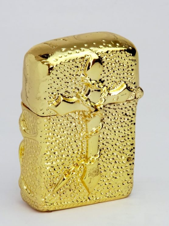 3D Skull ZIPPO gold