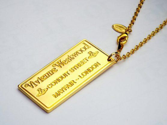ヴィヴィアンウエストウッド プラークペンダント ゴールド