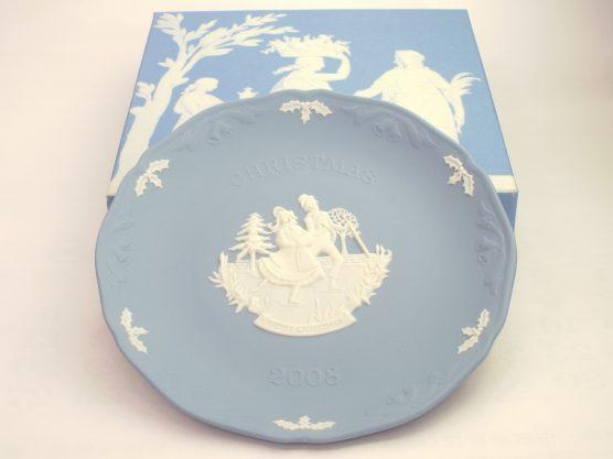 ウェッジウッド ジャスパー ペールブルー クリスマスプレート 2008年