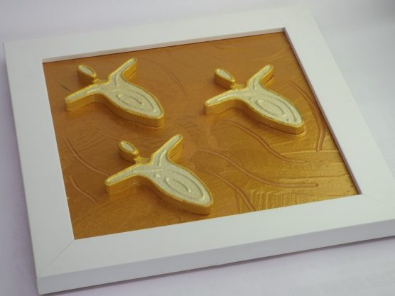 Andy Lakey 1999 Triple Gold 3D Angel Painting